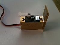 Servo Motor Mount - Assembled From First Test Etch